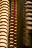 Inside the Piano. Details on the inside of an old antique piano Royalty Free Stock Images