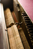 Inside the Piano. Details on the inside of an old antique piano Stock Image