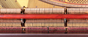 Inside the piano Stock Images