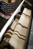 Inside a piano Stock Photo