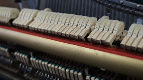 Inside the Piano. stock footage