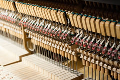 Inside of the piano Royalty Free Stock Photos