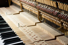 Inside of the piano Stock Image