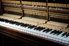 Inside of the piano Stock Photography