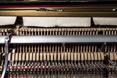 Inside a piano Royalty Free Stock Image
