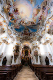 Inside Pilgrimage Church of Wies Royalty Free Stock Image