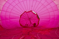 Inside Pink Hot Air Balloon Stock Photo