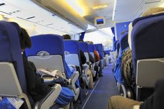 Inside a plane Royalty Free Stock Photos