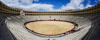 Inside Plaza de Toros de las Ventas in Madrid Stock Image