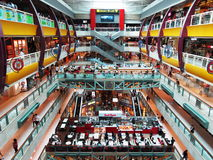 Inside Plaza Singapura shopping mall in Singapore Royalty Free Stock Photo