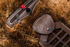 Inside pocket fur jackets Royalty Free Stock Photos