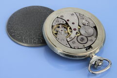 Inside of pocket watch. Stock Images
