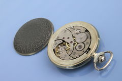 Inside of pocket watch. Royalty Free Stock Images