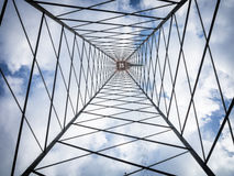 Inside the pole Stock Photo