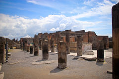 Inside the Pompeii excavation site Royalty Free Stock Images