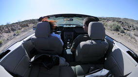 Inside pov car timelapse stock video