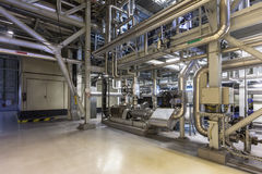 Inside a power plant Stock Photography