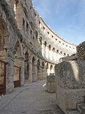 Inside the  Pula Amphitheatre Stock Photography