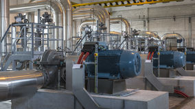 Inside a pumping station Royalty Free Stock Photos