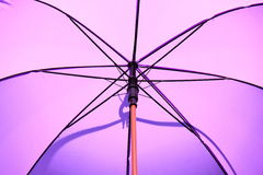 Inside purple umbrella Royalty Free Stock Photography