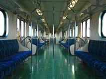 Inside a Railroad Car Stock Photo