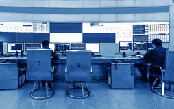 Inside the railway control room Royalty Free Stock Photos