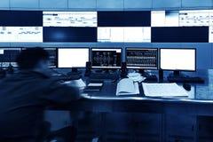 Inside the railway control room Stock Image