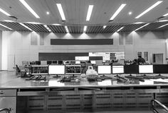 Inside the railway control room Stock Photography