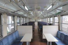 Inside of railway vehicle Stock Photos