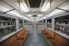 Inside of railway vehicle Royalty Free Stock Image