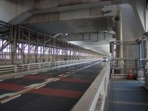 Inside Rainbow Bridge, Tokyo, Japan. The Rainbow Bridge レインボーブリッジ Reinbō Burijji is a suspension bridge royalty free stock image