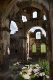 Inside the red church Kizil Kilsie Turkey Royalty Free Stock Images
