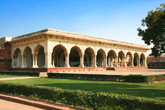 Inside of the Red Fort in Agra Stock Photo