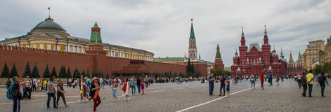 Inside Red Square in Moscow stock photography