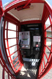 Inside the Red telephone box Stock Photo