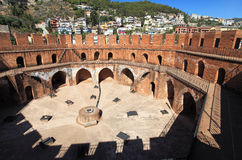 Inside Red Tower of city Alanya, Turkey Royalty Free Stock Images