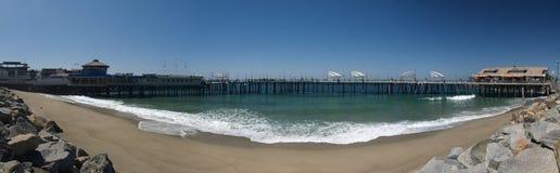 Inside Redondo Beach pier. Redondo beach California Panoramic with the pier Stock Image