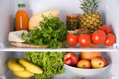 Inside the refrigerator Stock Photos
