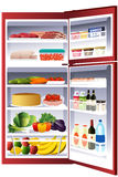 Inside of a refrigerator Stock Images