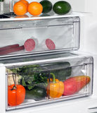 The inside of refrigerators. Full of fresh food refrigerator Royalty Free Stock Photo