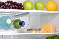 The inside of refrigerators. Full of fresh food refrigerator Royalty Free Stock Photography