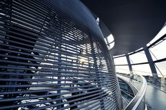 Inside the Reichstag Dome Royalty Free Stock Photography