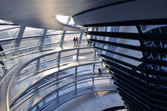 Inside the Reichstag Dome Stock Photos