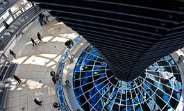Inside Reichstag dome. Enterior of Reichstag dome in Berlin, Germany Stock Photos
