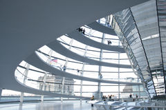 Inside the Reichstag dome stock photo