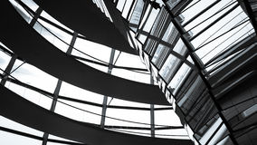 Inside the Reichstag Dome, Berlin. Abstract, full-frame detail from within the Sir Norman Foster designed dome on top of the German parliament building, The Royalty Free Stock Photo