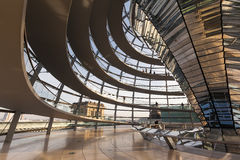 Inside The Reichstag Dome Stock Photography