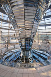 Inside the Reichstag Dome Royalty Free Stock Images
