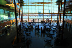 Inside the Renaissance Center in Detroit Royalty Free Stock Image