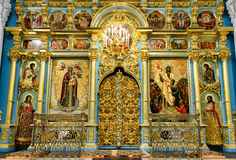 Inside the Resurrection Cathedral in New Jerusalem Monastery, Ru Royalty Free Stock Photography